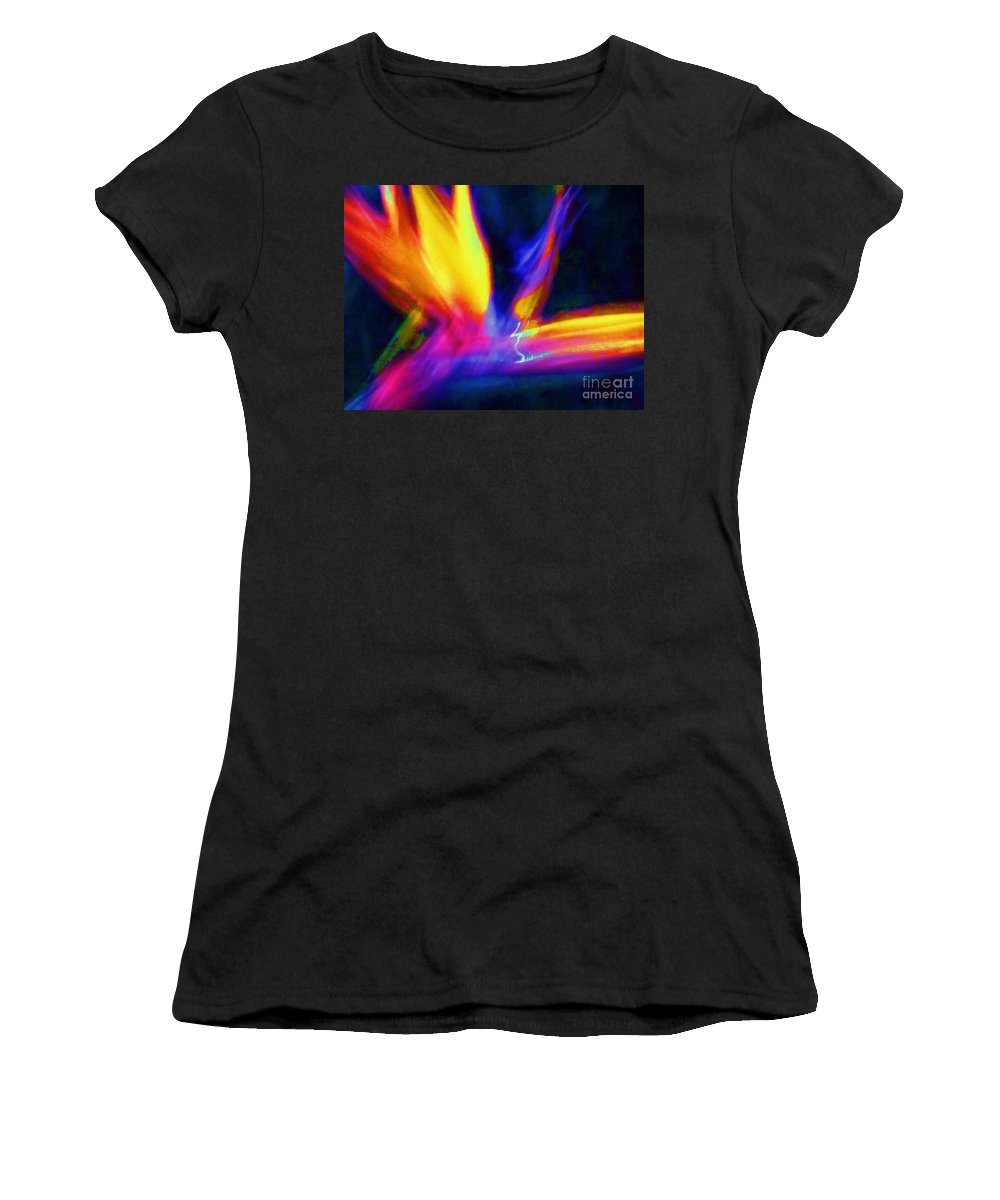 Wings Women's T-Shirt (Athletic Fit) featuring the photograph Wings Of Color Abstract by Eric Schiabor