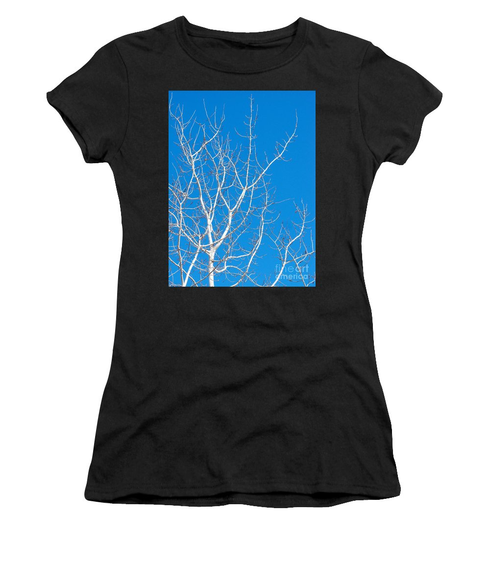 Winter Women's T-Shirt (Athletic Fit) featuring the photograph Winter by Ann Horn
