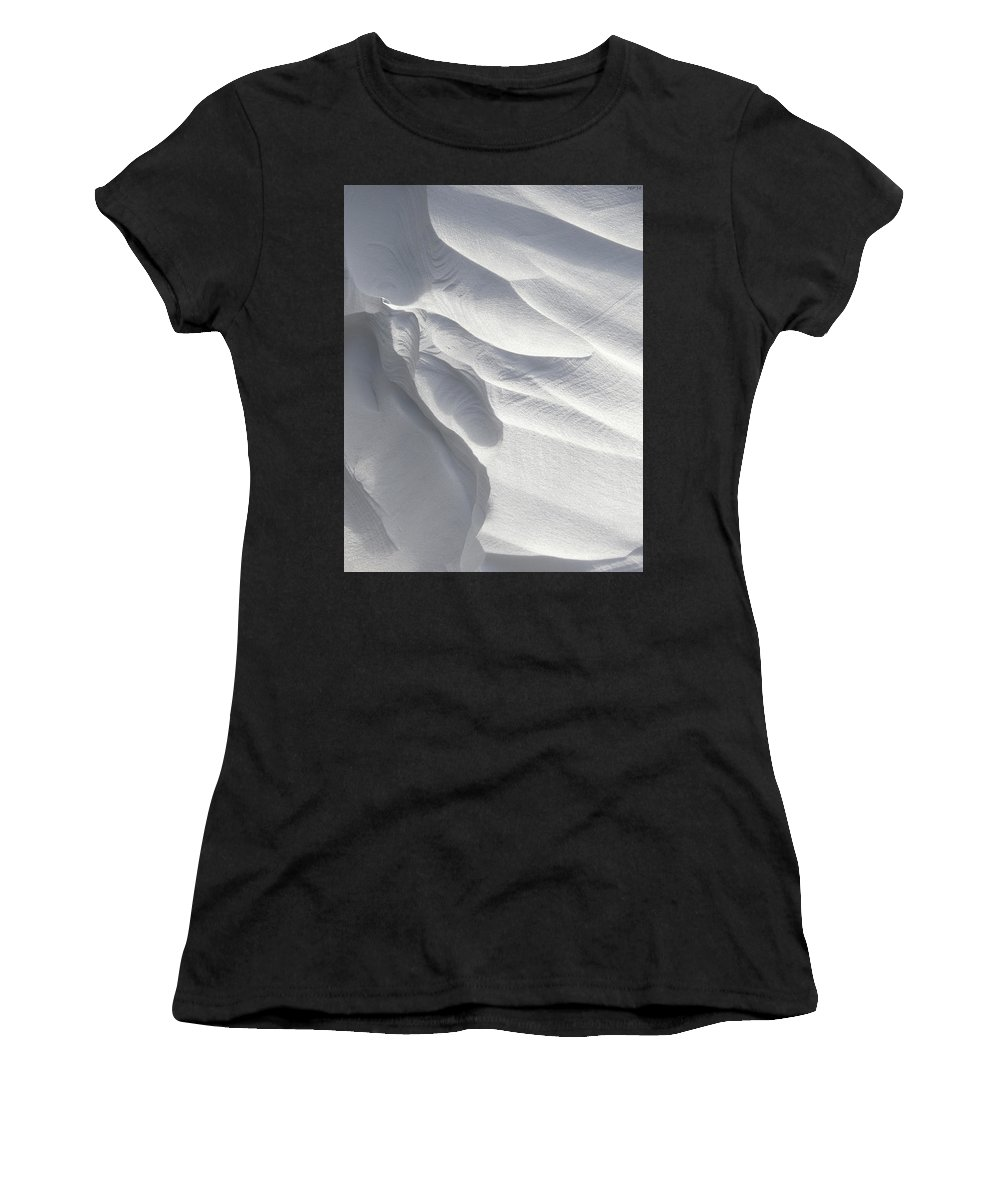 Winter Women's T-Shirt featuring the photograph Winter Snow Drift Sculpture by Phil Perkins