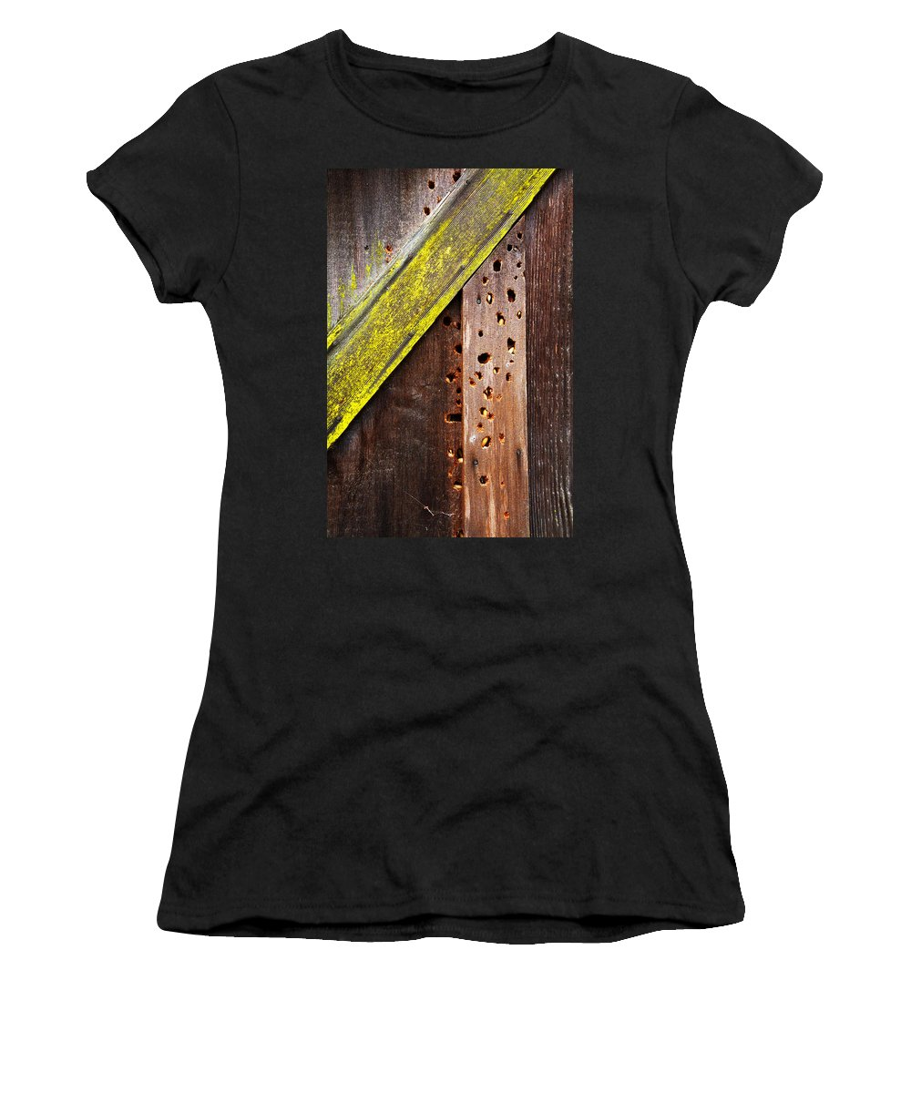 Old Barn Women's T-Shirt featuring the photograph Winter Storage by Guy Shultz