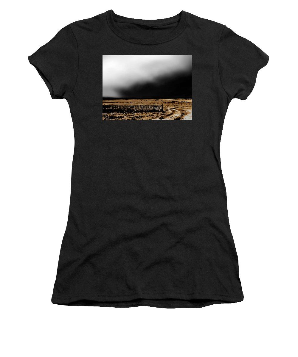 Digital Clone Painting Women's T-Shirt featuring the digital art Winter Winds Se by Tim Richards
