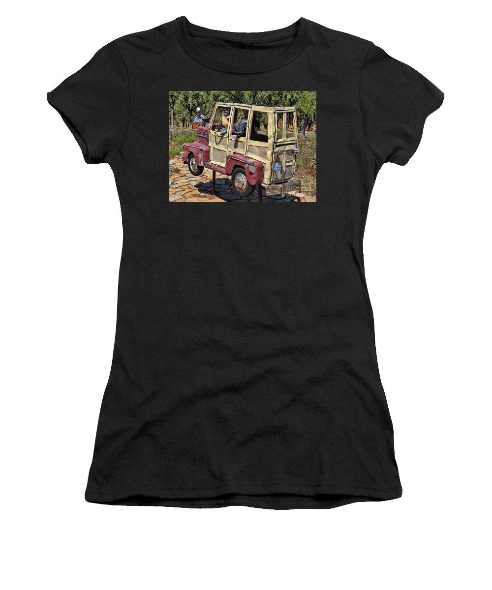 Woody Women's T-Shirt featuring the photograph Woody Sculpture by Jack Schultz