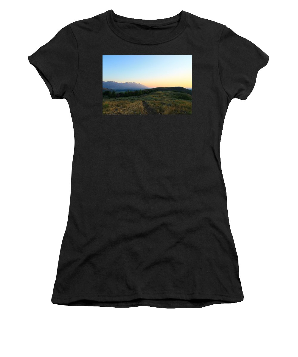 Jackson Hole Women's T-Shirt featuring the photograph Wyoming Landscapes by Catie Canetti