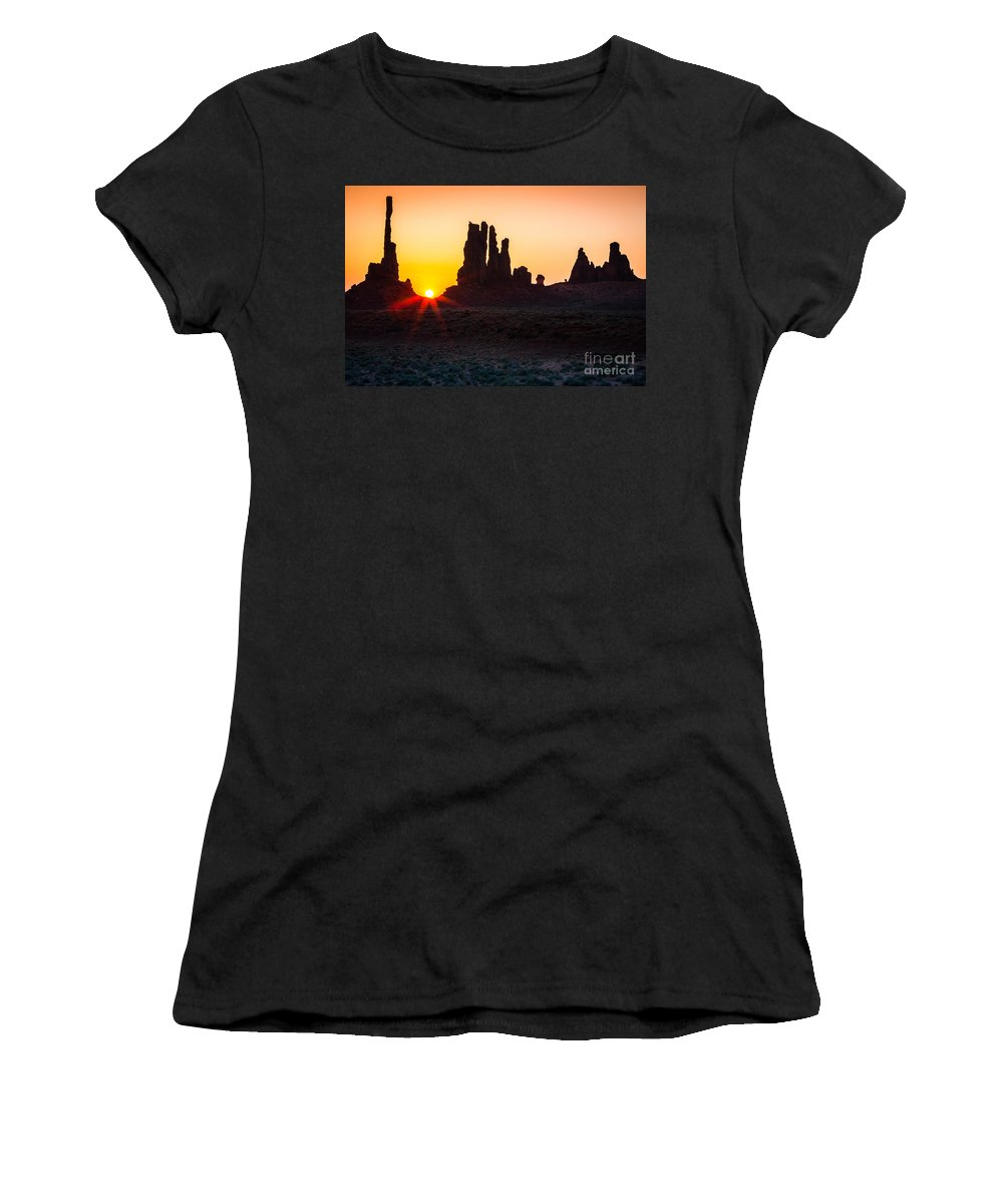 America Women's T-Shirt (Athletic Fit) featuring the photograph Yei-bi-chei Rays by Inge Johnsson