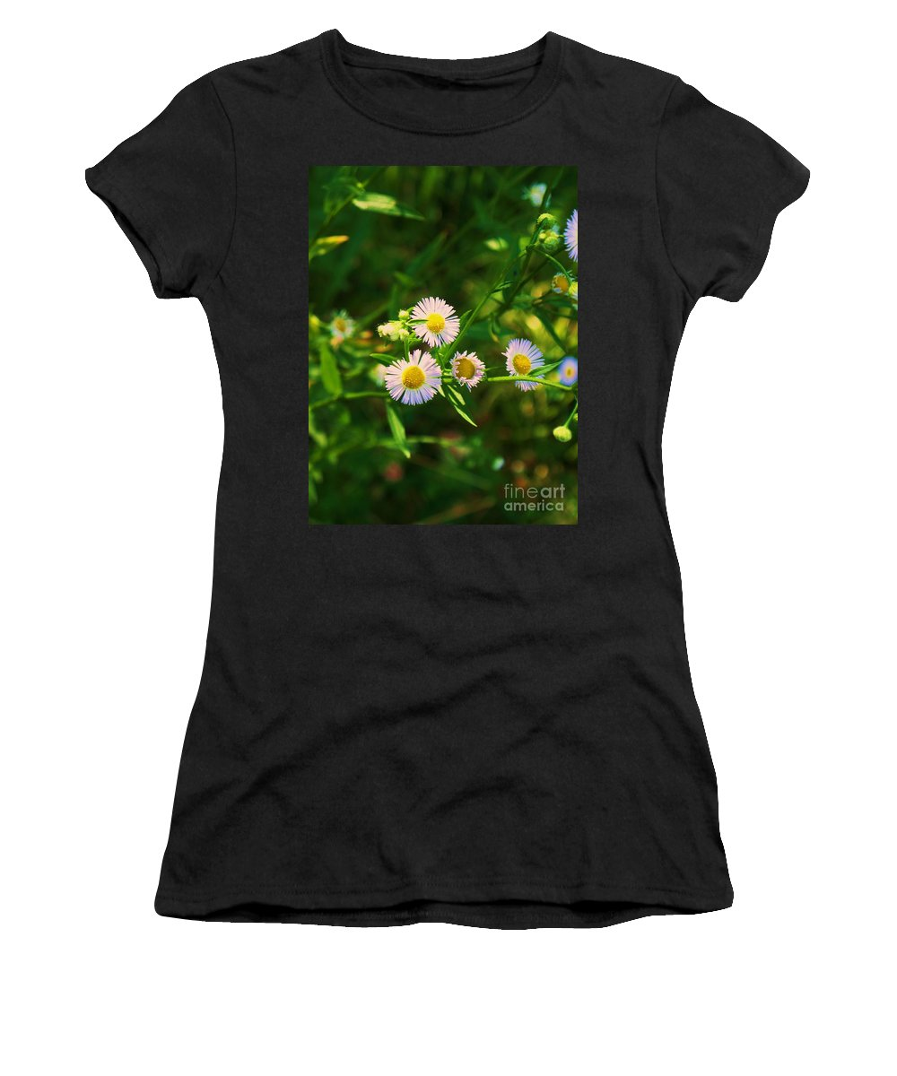 Nature Women's T-Shirt (Athletic Fit) featuring the photograph Yellow And White Dasies by Eric Schiabor