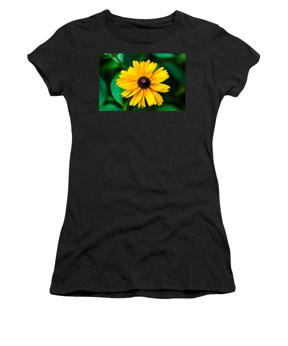 Beautiful Women's T-Shirt featuring the photograph Yellow Flower - Featured 3 by Alexander Senin
