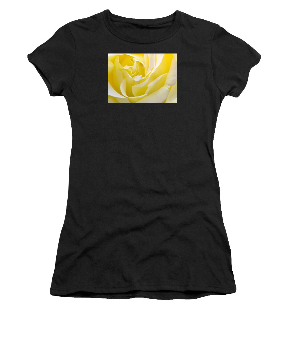 Rose Women's T-Shirt (Athletic Fit) featuring the photograph Yellow Rose by Svetlana Sewell