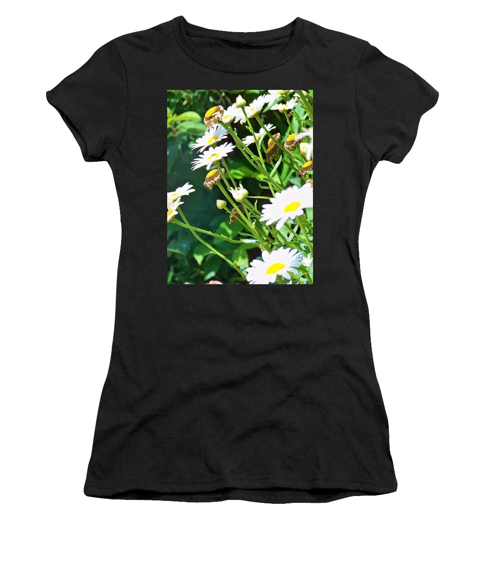 Flowers Women's T-Shirt featuring the photograph Young And Old by Chuck Hicks