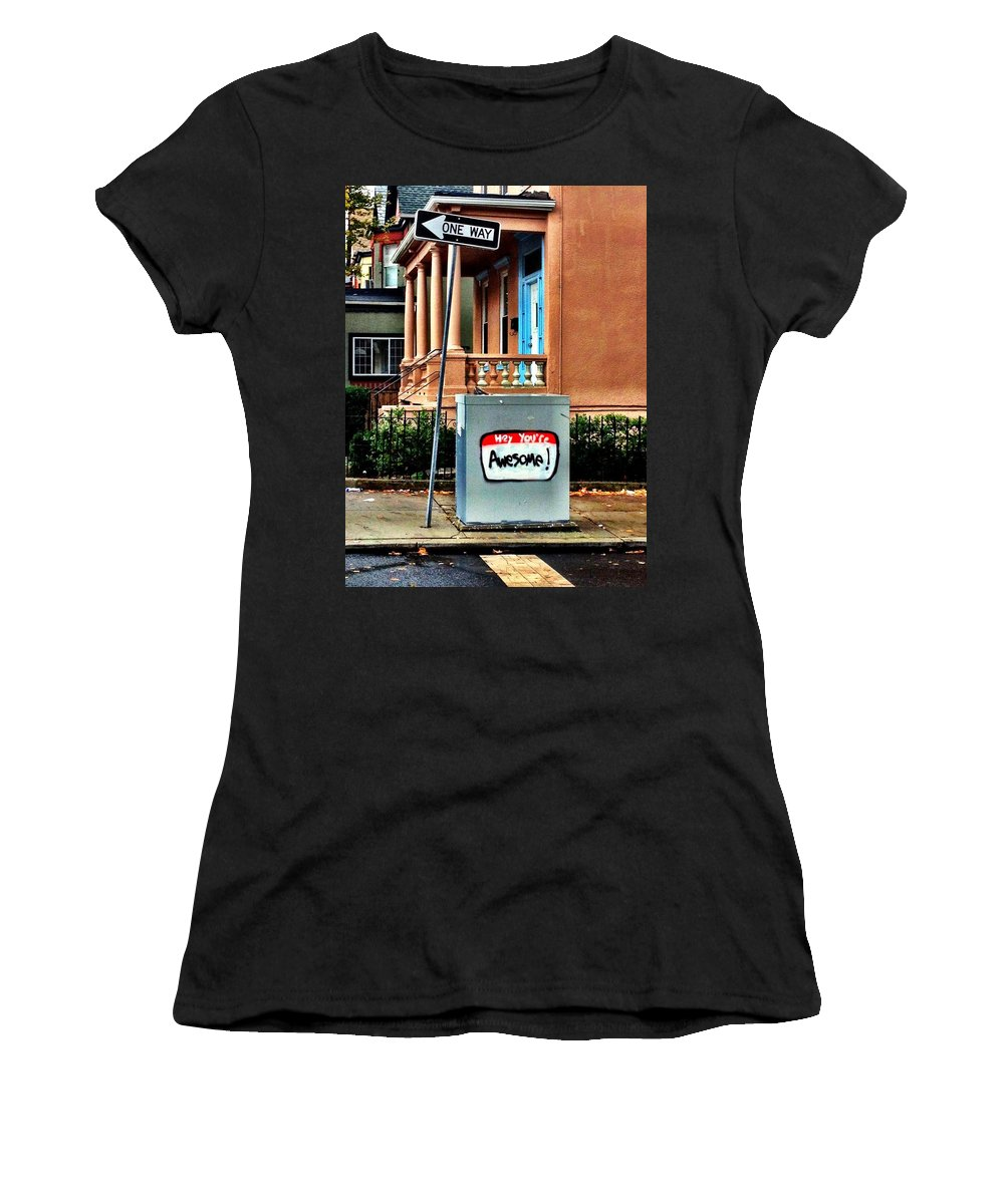 Awesome Women's T-Shirt featuring the photograph Youre Awesome by Kathleen Odenthal