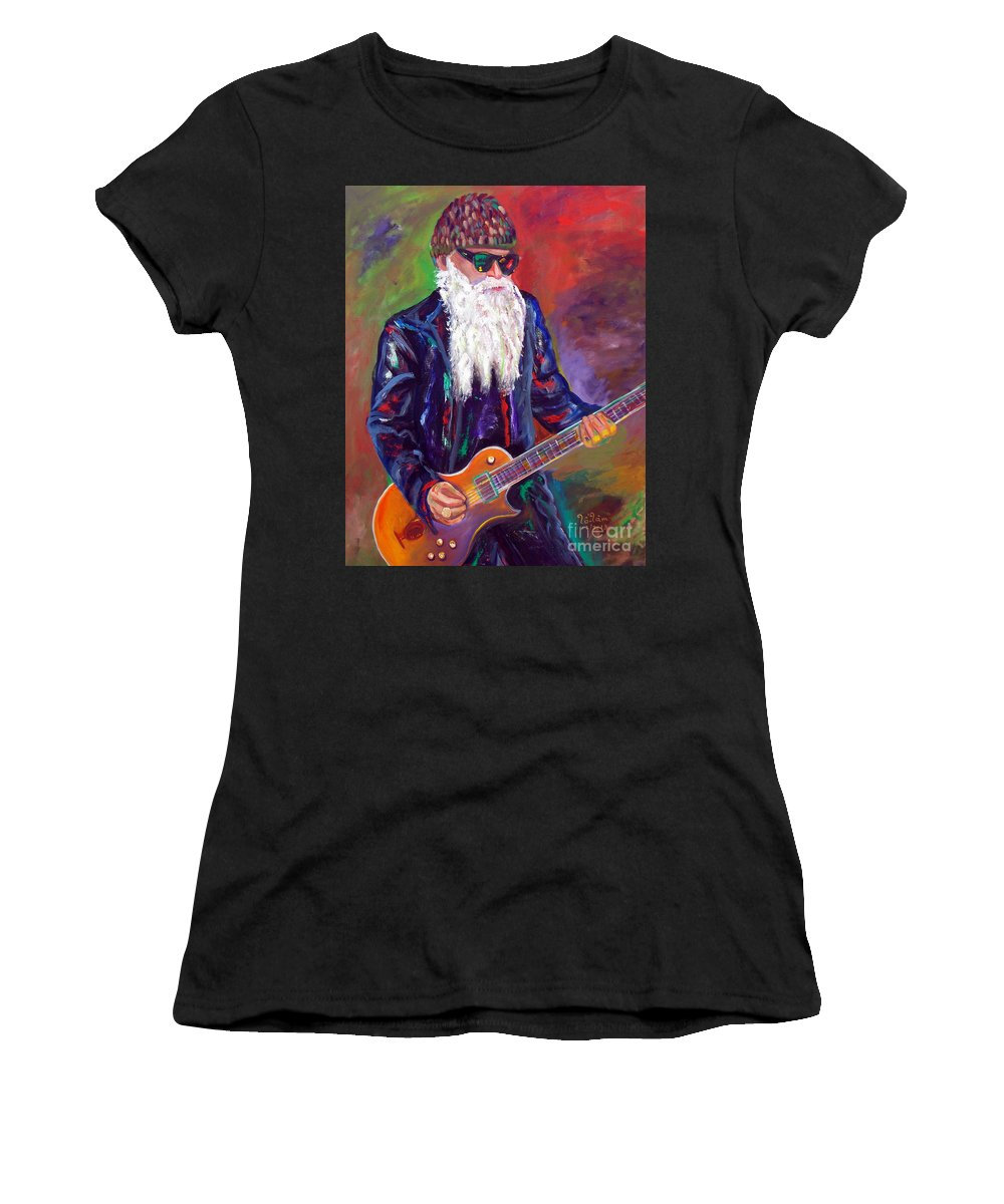 Autism Women's T-Shirt (Athletic Fit) featuring the painting Zz Top 1 by To-Tam Gerwe