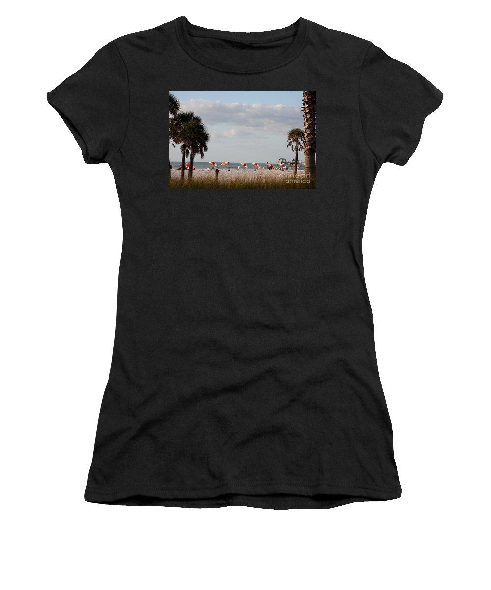 Beach Women's T-Shirt featuring the photograph Beach Life by Christiane Schulze Art And Photography