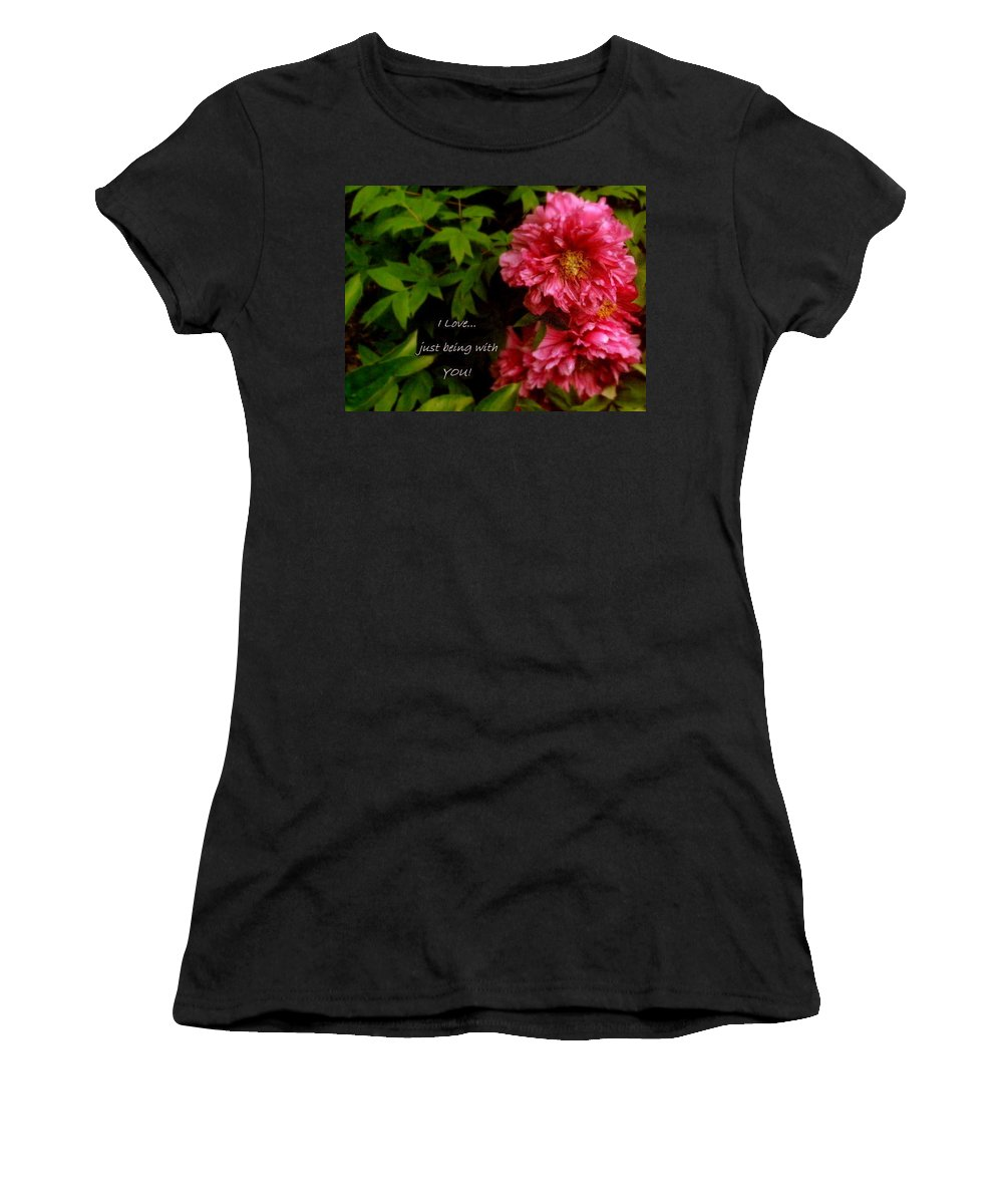 Card Women's T-Shirt featuring the photograph Being With You by Deborah Crew-Johnson