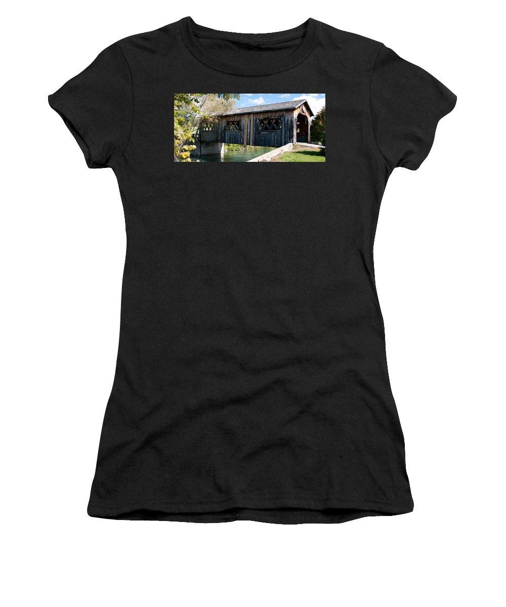 Bridges Women's T-Shirt featuring the photograph deShutes River Bridge by Guy Whiteley