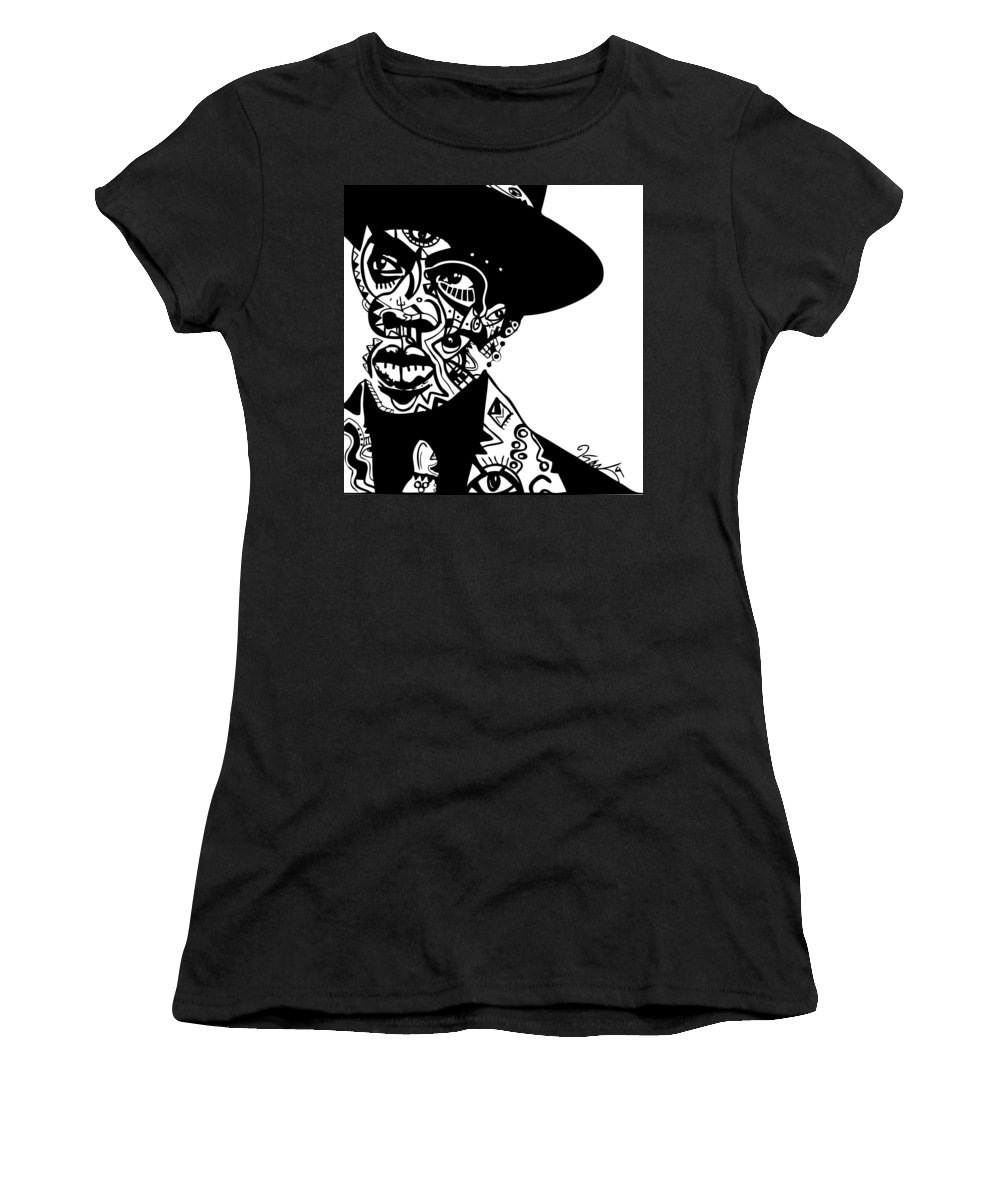 Jayz Women's T-Shirt featuring the digital art Jay Z by Kamoni Khem
