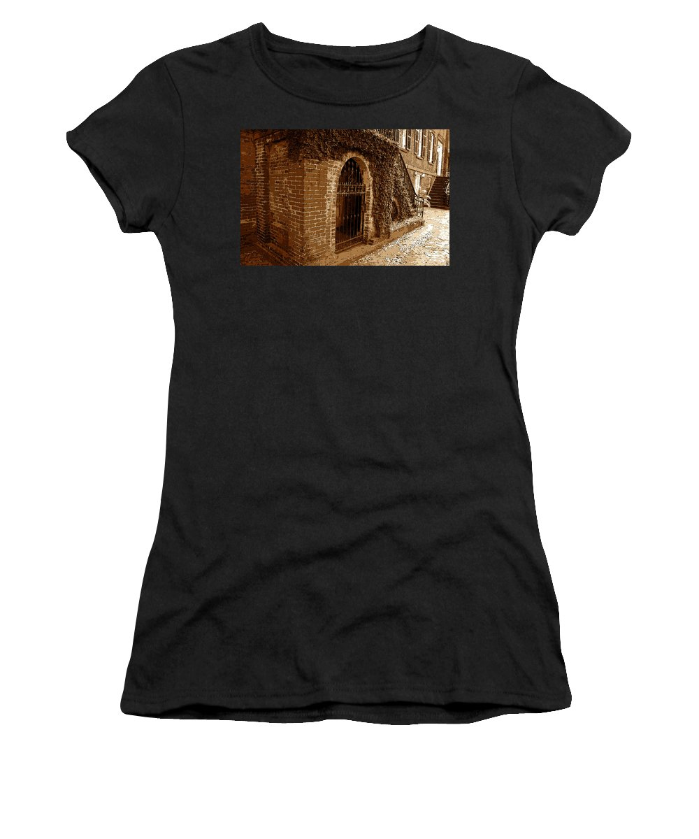 Art Women's T-Shirt (Athletic Fit) featuring the painting Old Savannah by David Lee Thompson