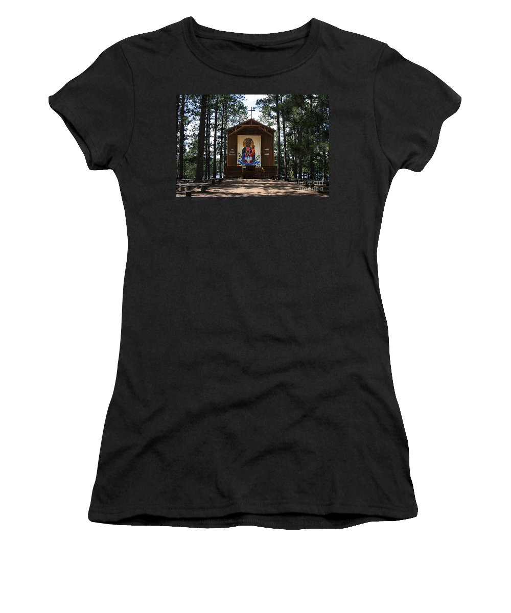 Our Lady Of Czestochowa Women's T-Shirt (Athletic Fit) featuring the photograph Our Lady Of Czestochowa by Barbara McMahon