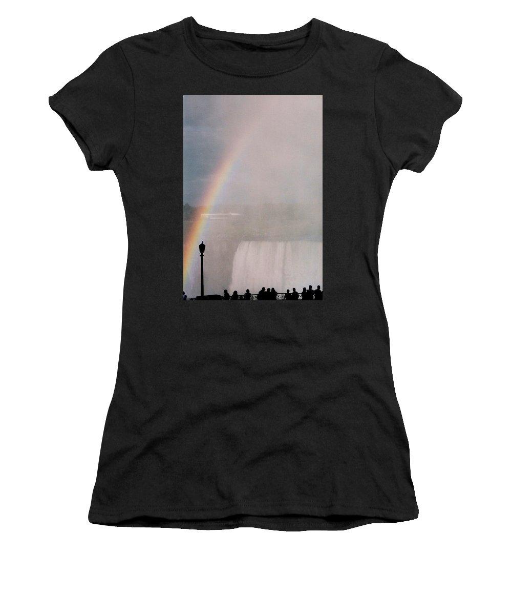 Waterfall Women's T-Shirt featuring the photograph Rainbow Falls by Pharris Art