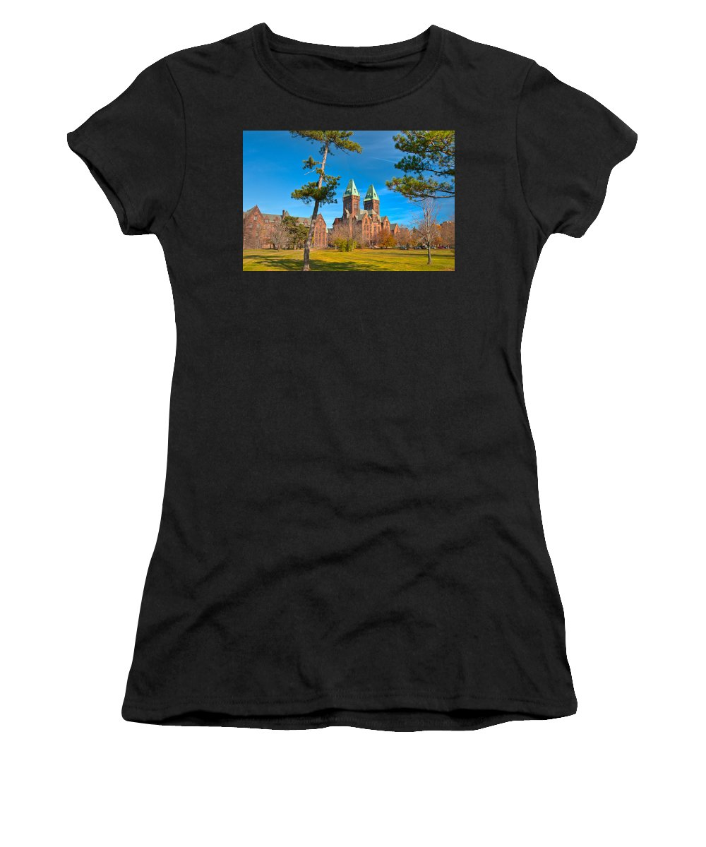 Architecture Women's T-Shirt (Athletic Fit) featuring the photograph Richardson Building 3421 by Guy Whiteley