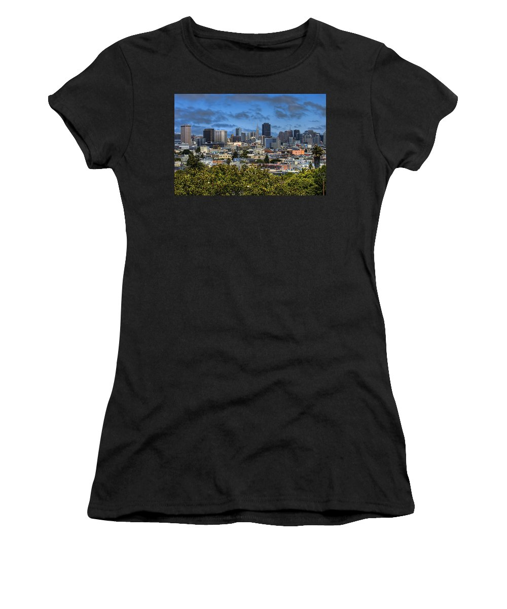 San Francisco Women's T-Shirt (Athletic Fit) featuring the photograph San Francisco by Jay Hooker