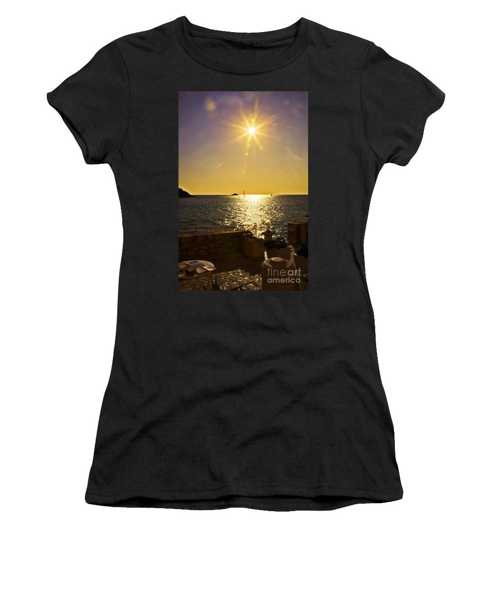 Terrace View Women's T-Shirt featuring the photograph Starburst Memories by Madeline Ellis