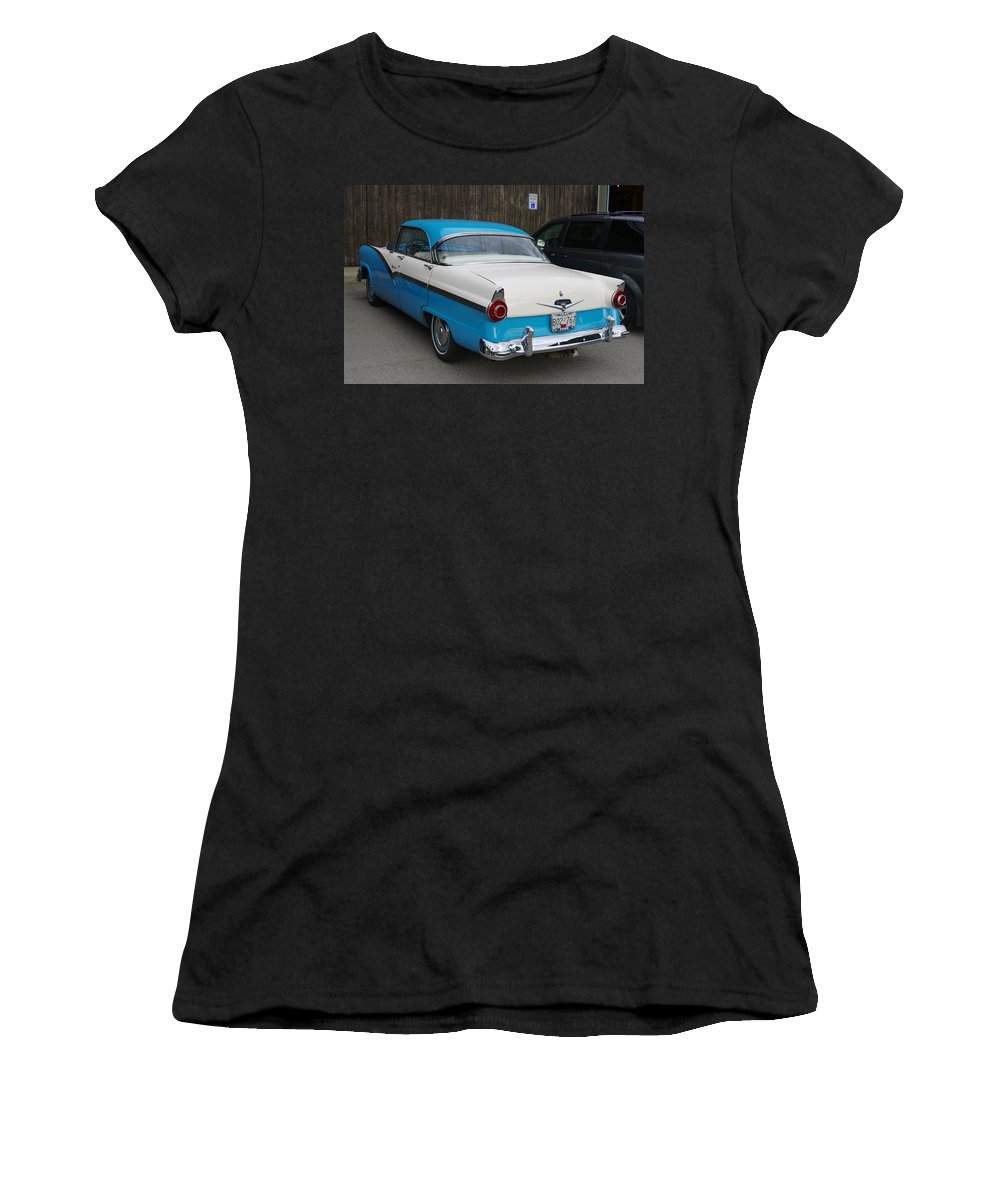 1956 Ford Fairlane Women's T-Shirt (Athletic Fit) featuring the photograph 1956 Ford Fairlane by John Greaves