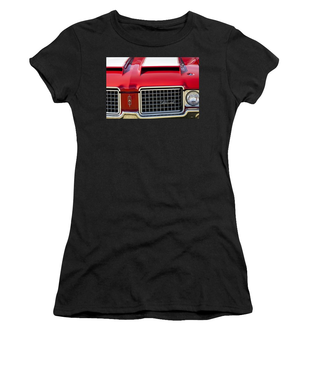 1972 Oldsmobile Women's T-Shirt featuring the photograph 1972 Oldsmobile Grille by Jill Reger