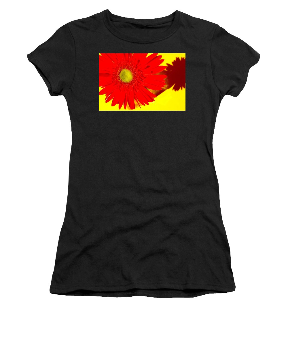 Gerbera Photographs Women's T-Shirt (Athletic Fit) featuring the photograph 2024a2-002 by Kimberlie Gerner