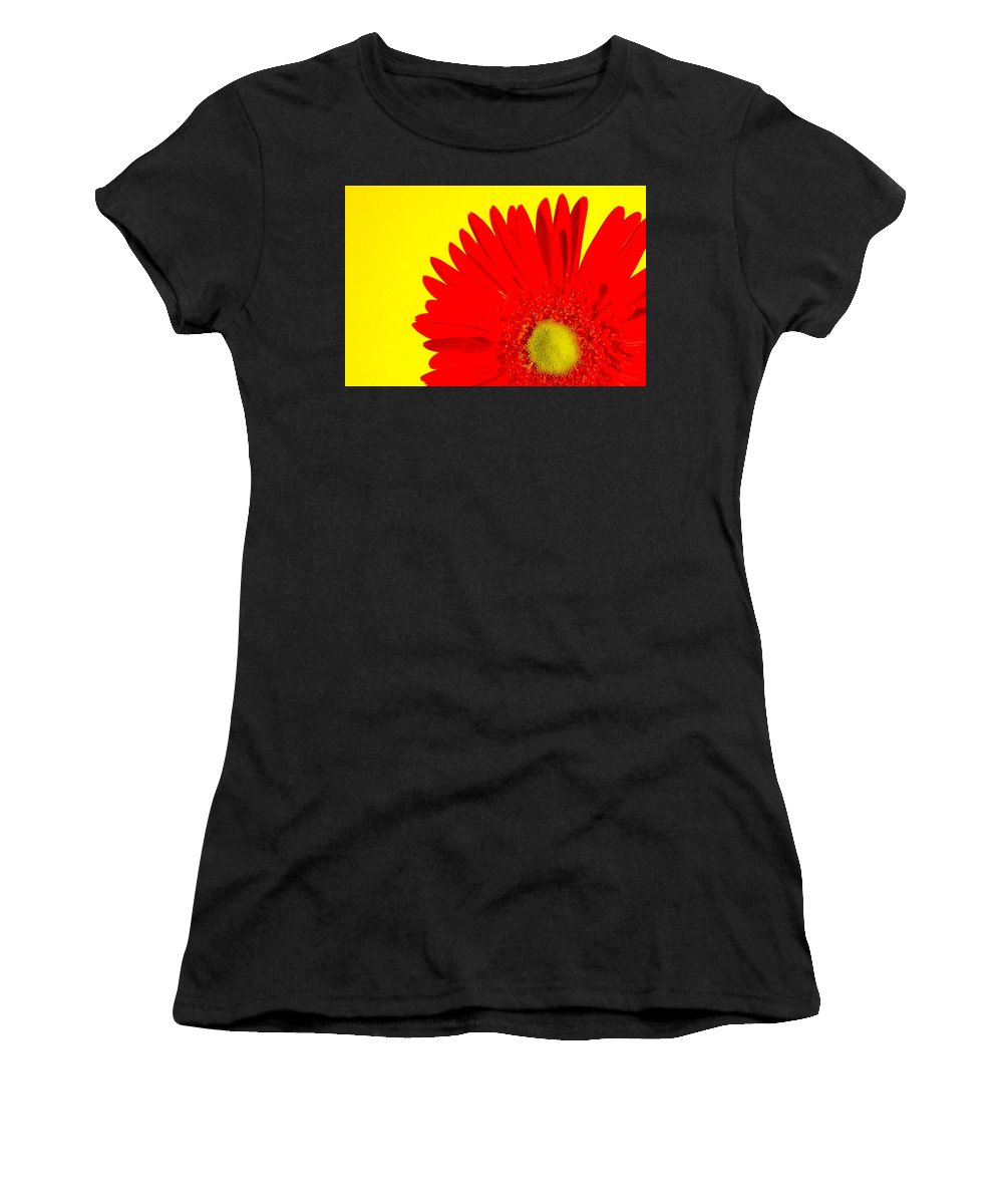 Gerbera Photographs Women's T-Shirt (Athletic Fit) featuring the photograph 2024a2-006 by Kimberlie Gerner