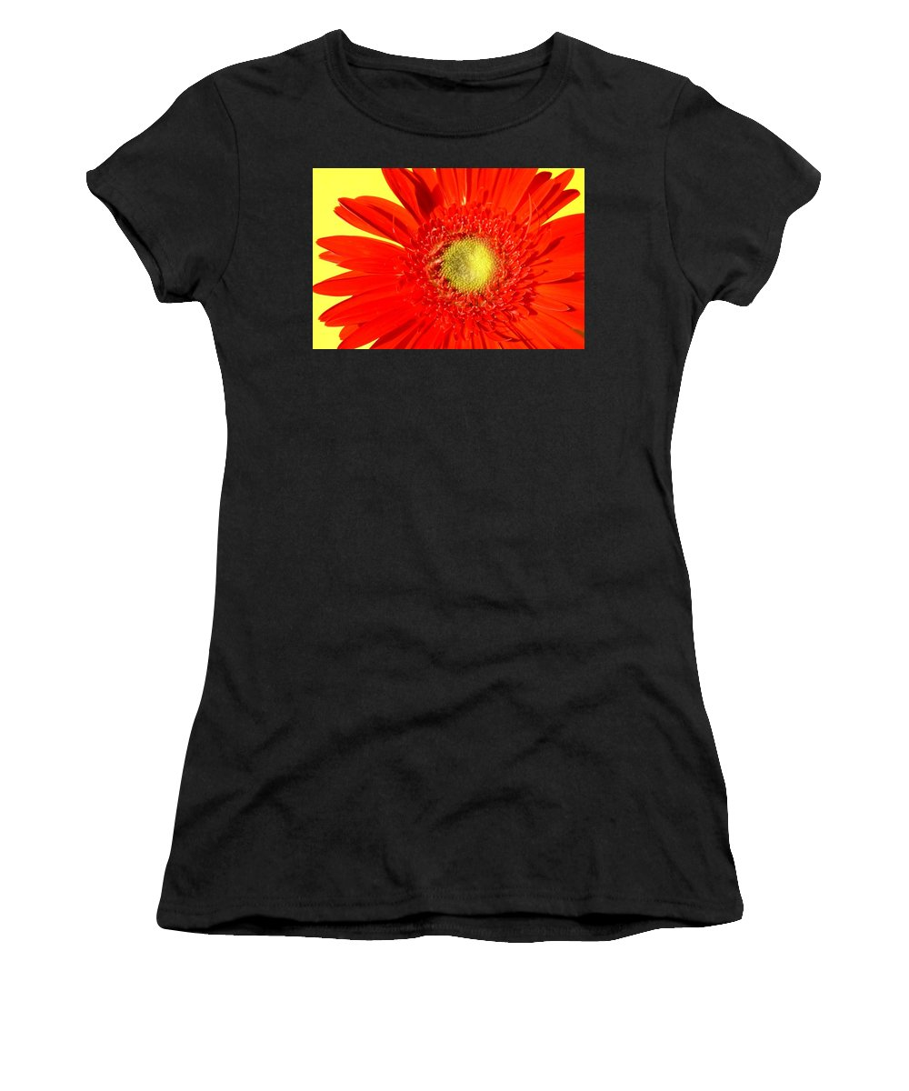 Gerbera Photographs Women's T-Shirt (Athletic Fit) featuring the photograph 2026a5-008 by Kimberlie Gerner