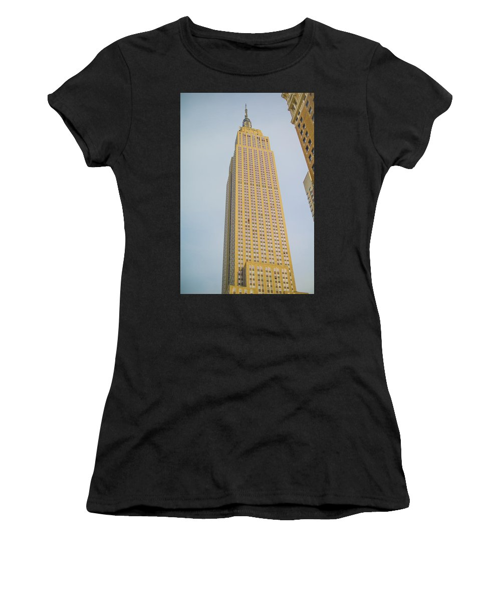 New York Women's T-Shirt featuring the photograph Empire State Building by Theodore Jones
