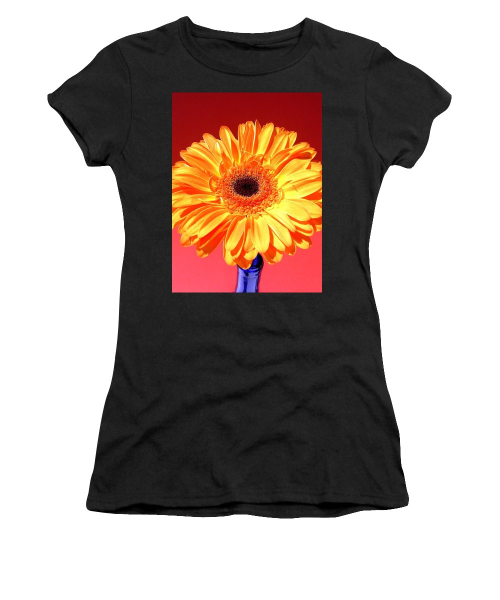 Gerbera Photographs Photographs Photographs Women's T-Shirt (Athletic Fit) featuring the photograph 4178.1c by Kimberlie Gerner