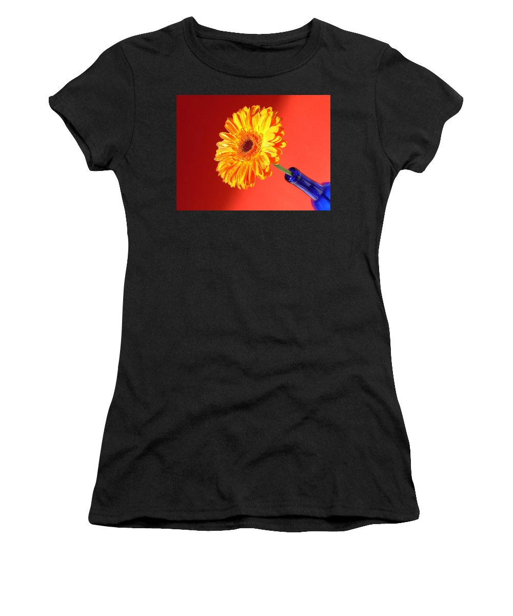 Gerbera Photographs Photographs Photographs Women's T-Shirt (Athletic Fit) featuring the photograph 4186 by Kimberlie Gerner