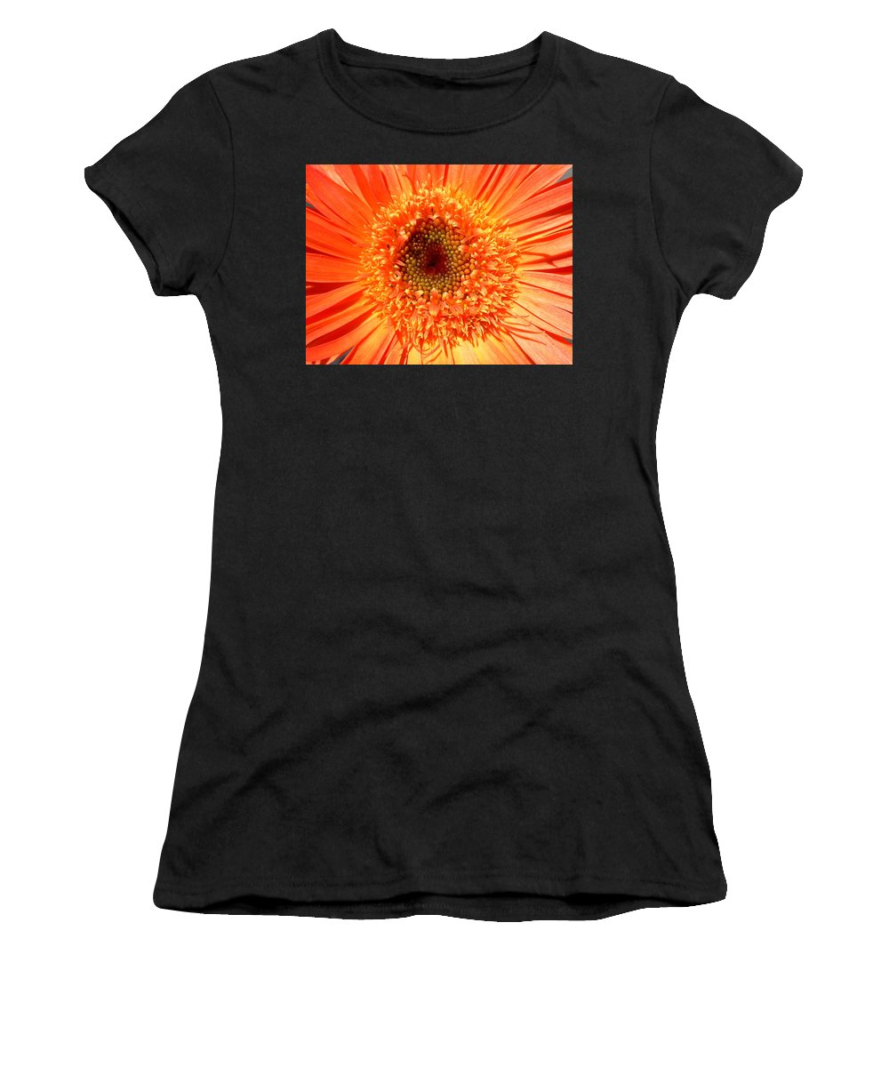 Gerbera Photographs Photographs Photographs Women's T-Shirt (Athletic Fit) featuring the photograph 6190 by Kimberlie Gerner