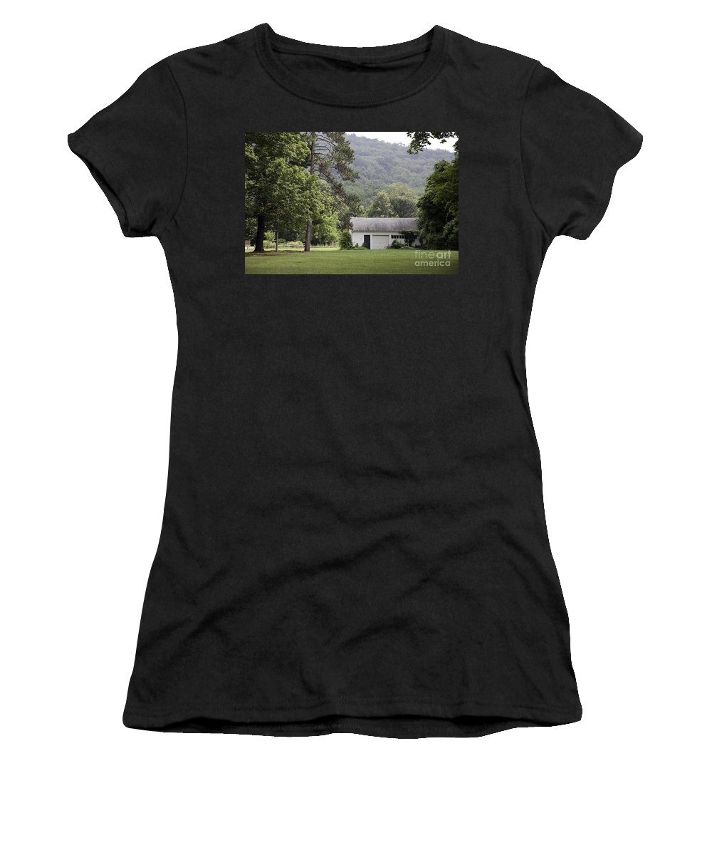 House Women's T-Shirt (Athletic Fit) featuring the photograph A Little White House by Madeline Ellis