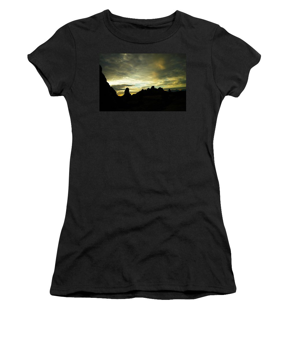 Rocks Women's T-Shirt (Athletic Fit) featuring the photograph A Magic Moment by Jeff Swan