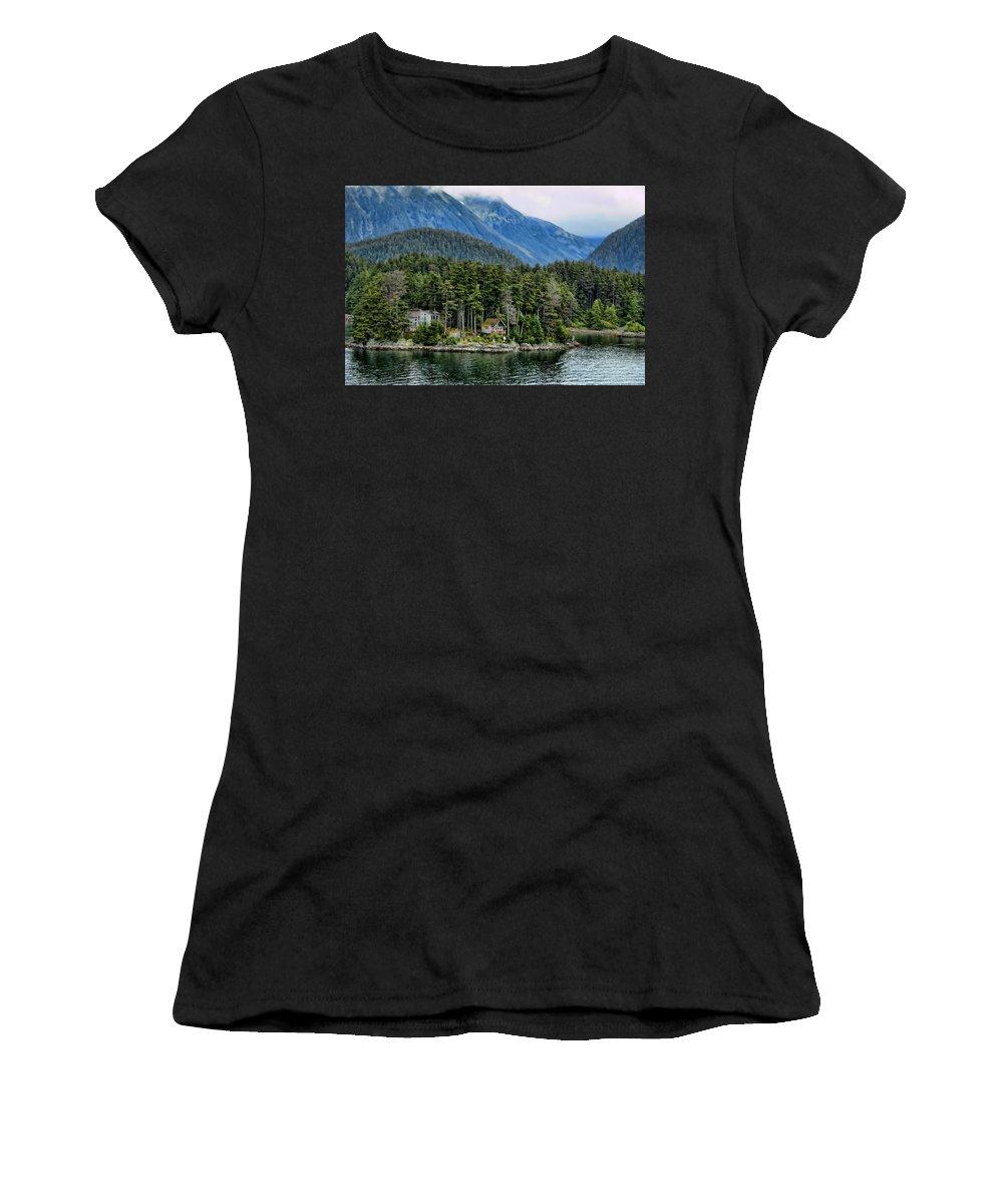 Alaska Women's T-Shirt featuring the photograph Alaskan Mountain Retreat by Jon Berghoff