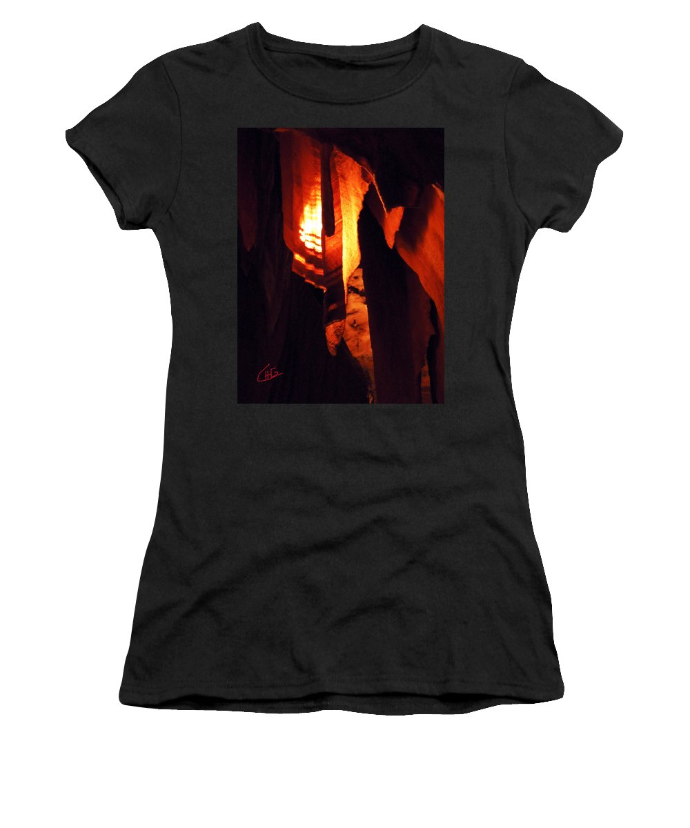 Colette Women's T-Shirt (Athletic Fit) featuring the photograph Ancient Old Grotte Magdaleine by Colette V Hera Guggenheim
