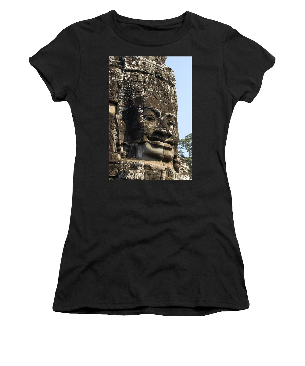 Ancient Women's T-Shirt (Athletic Fit) featuring the photograph Angkor Thom Fae by Gloria & Richard Maschmeyer