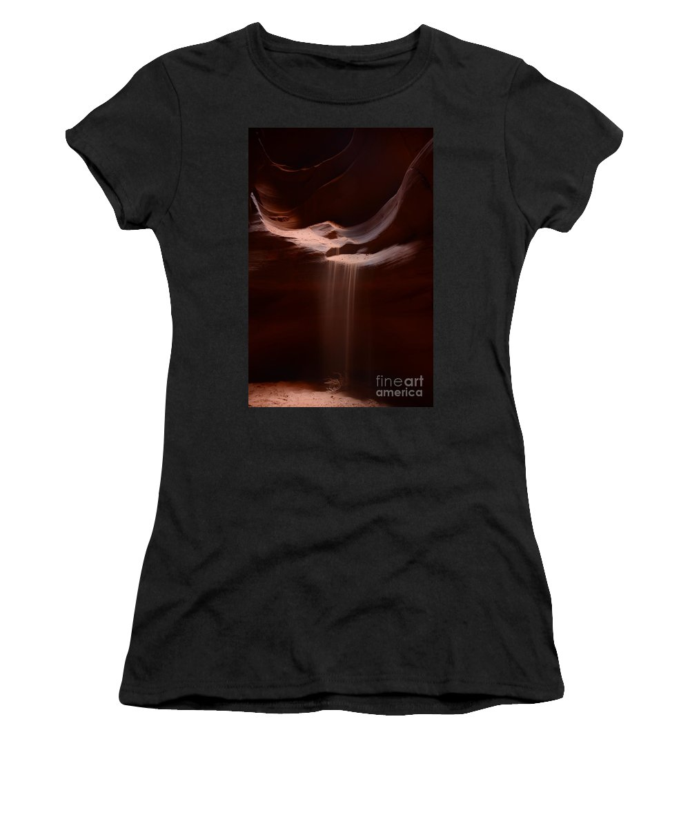 Antelope Slot Canyon Women's T-Shirt featuring the photograph Antelope Slot Canyon Sand by Cassie Marie Photography