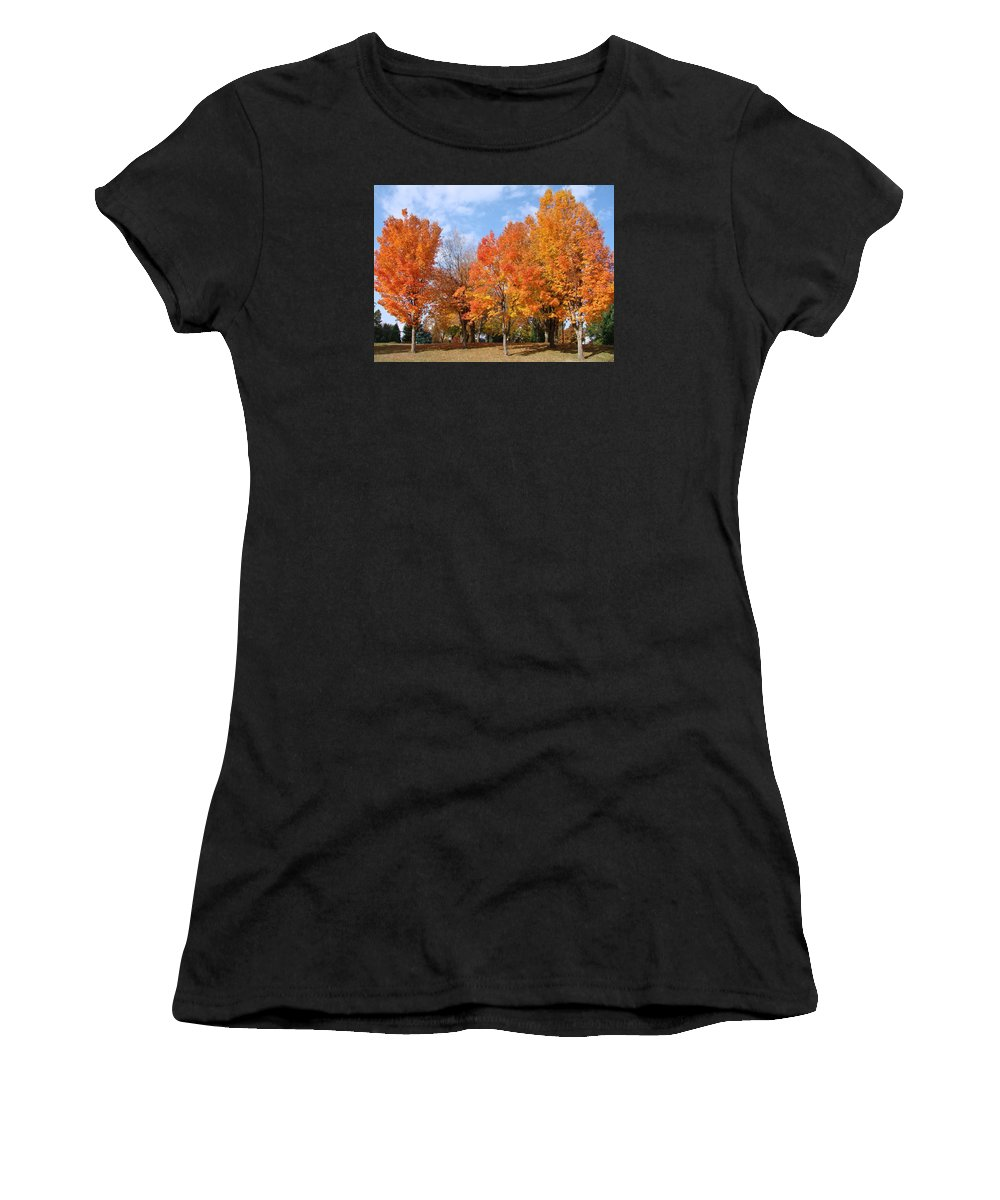 Autumn Women's T-Shirt featuring the photograph Autumn Leaves by Athena Mckinzie