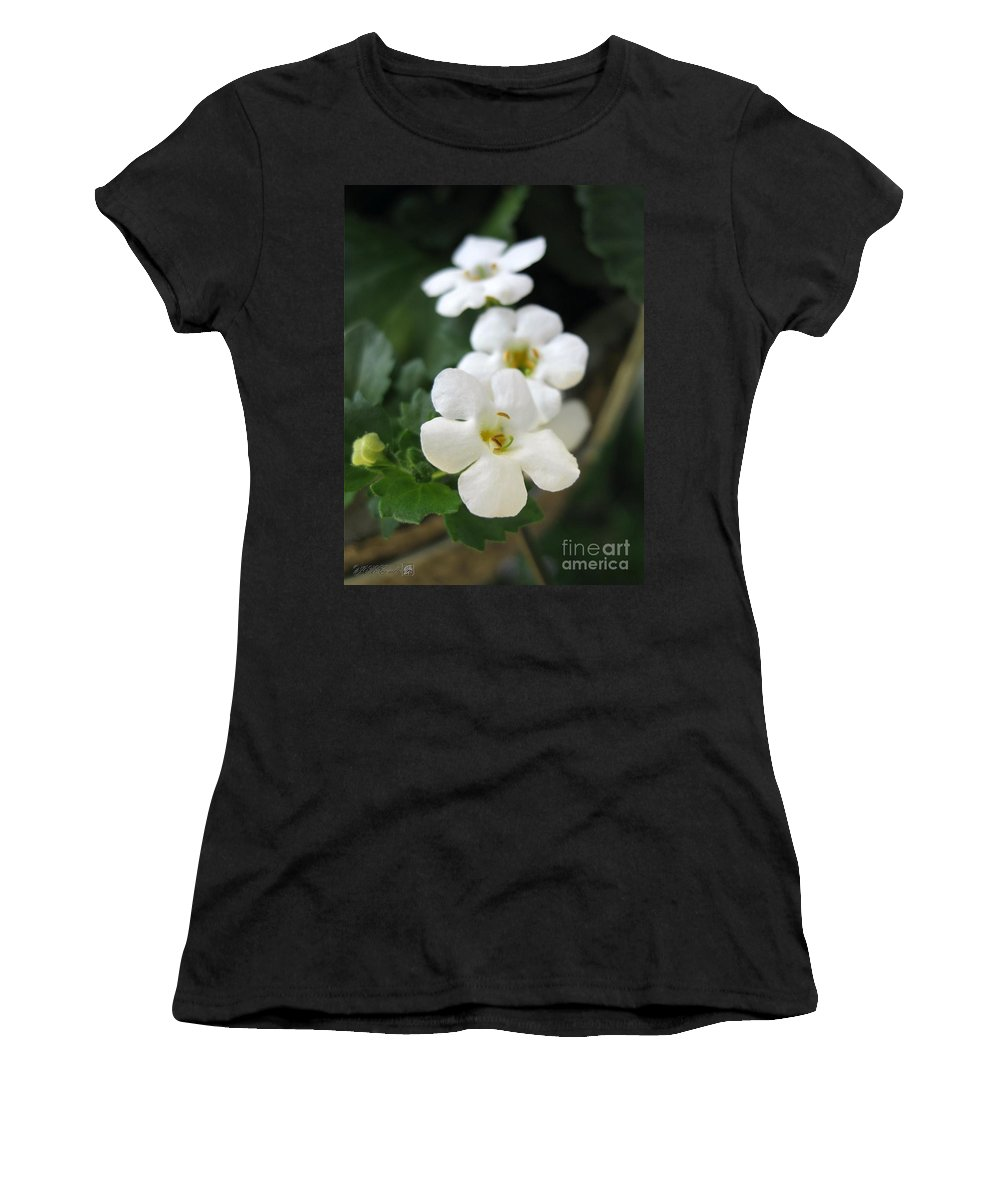Bacopa Women's T-Shirt featuring the photograph Bacopa Named Snowtopia by J McCombie