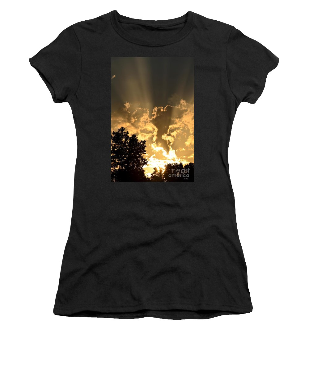 Because He Lives Women's T-Shirt (Athletic Fit) featuring the photograph Because He Lives by Maria Urso