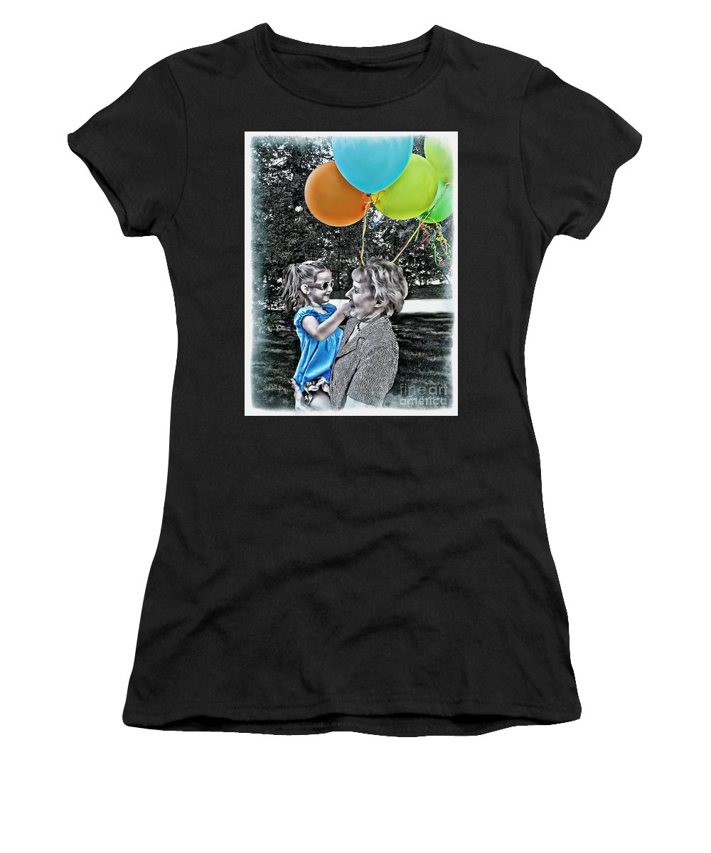 Birthday Party Women's T-Shirt featuring the photograph Birthdays by Joan Minchak