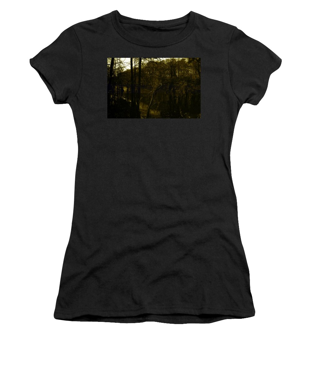 Louisiana Women's T-Shirt (Athletic Fit) featuring the photograph Black Bayou 18 by Doug Duffey