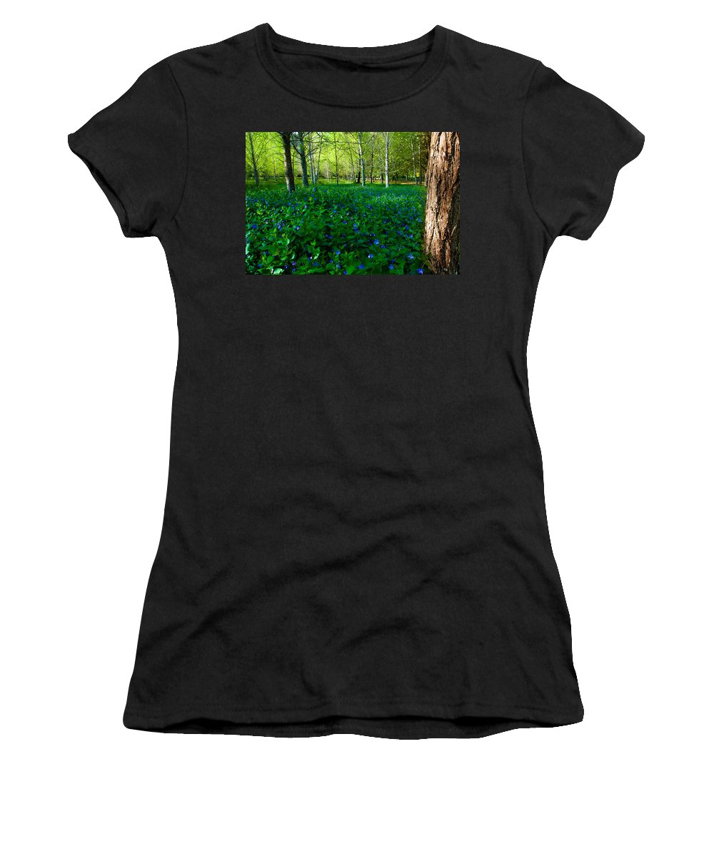 Blanket Women's T-Shirt (Athletic Fit) featuring the photograph Blanket Of Flowers by Edgar Laureano