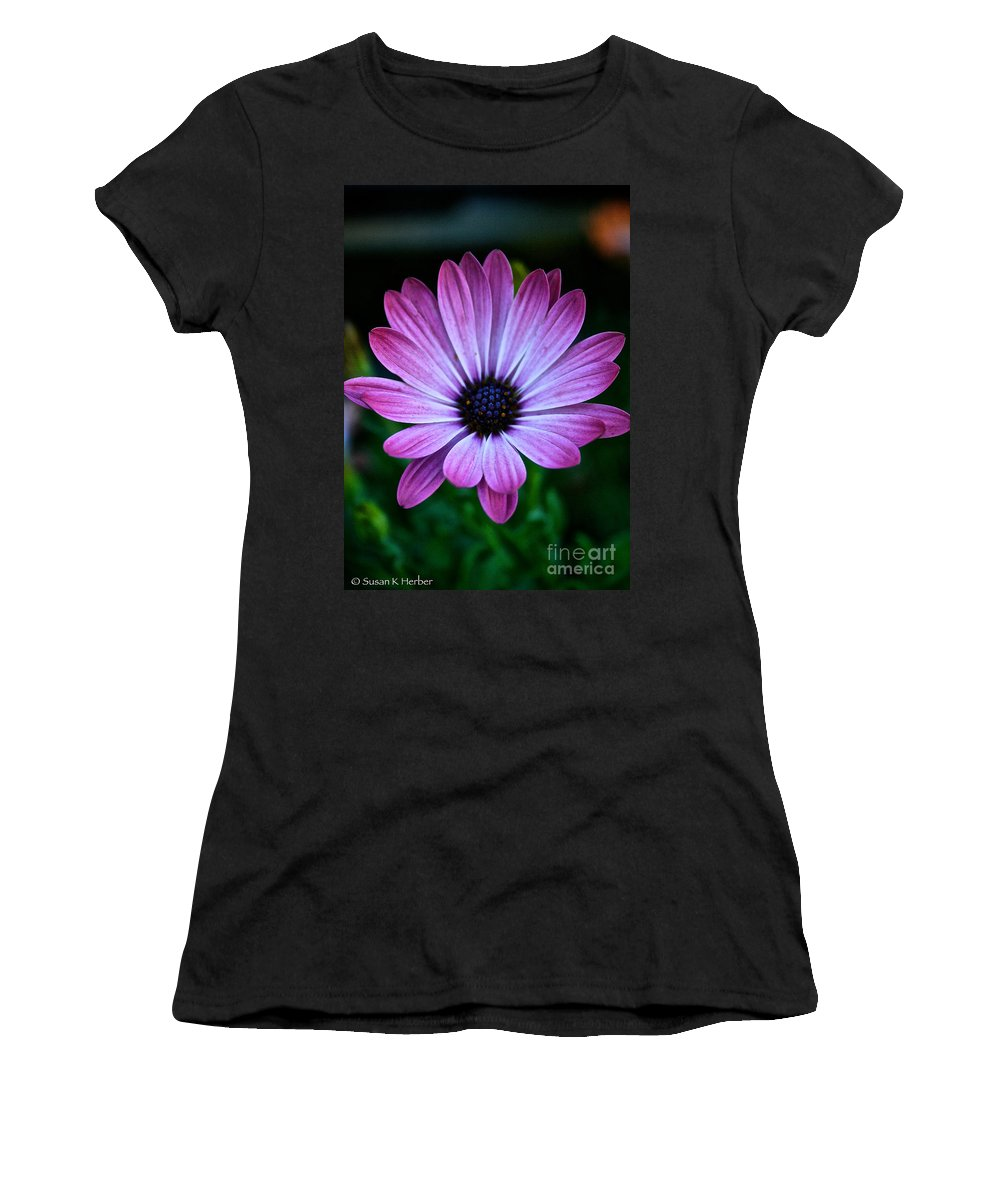 Plant Women's T-Shirt (Athletic Fit) featuring the photograph Blue Soul by Susan Herber
