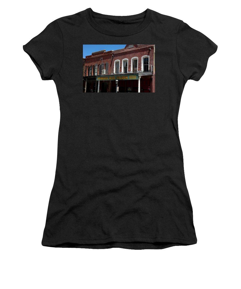 Usa Women's T-Shirt featuring the photograph Brass Rail Saloon by LeeAnn McLaneGoetz McLaneGoetzStudioLLCcom