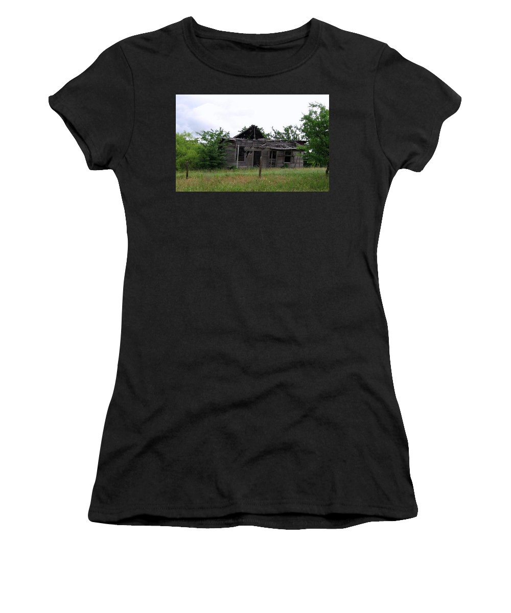 Women's T-Shirt (Athletic Fit) featuring the photograph Broken by Amy Hosp