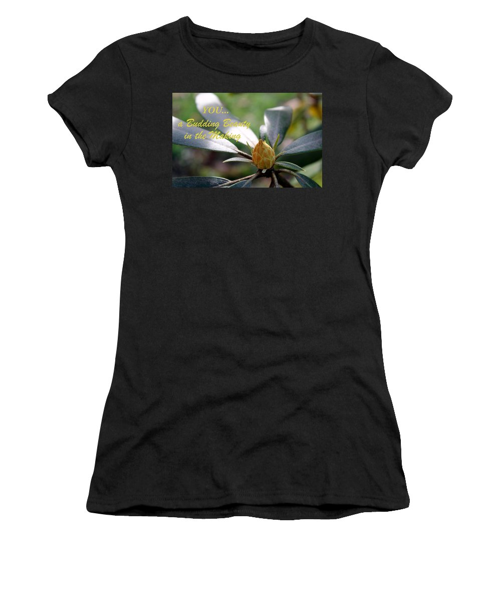 Bud Women's T-Shirt featuring the photograph Budding Beauty by Deborah Crew-Johnson