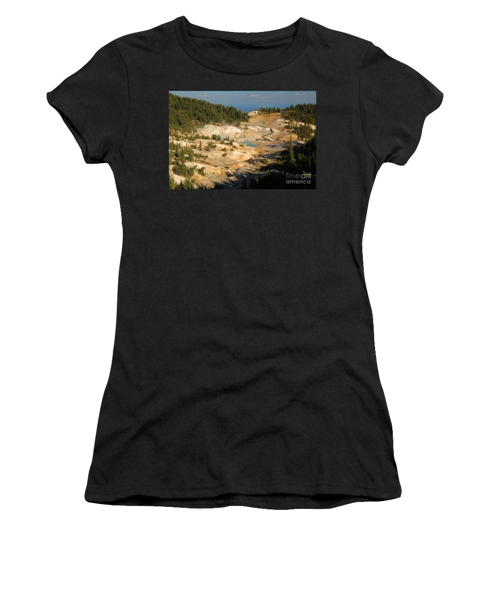 Lassen Volcanic National Park Women's T-Shirt (Athletic Fit) featuring the photograph Bumpass Hell by Adam Jewell